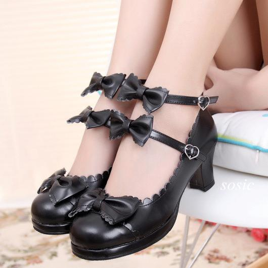 Ruffle Strap Bow Shoes SD00785