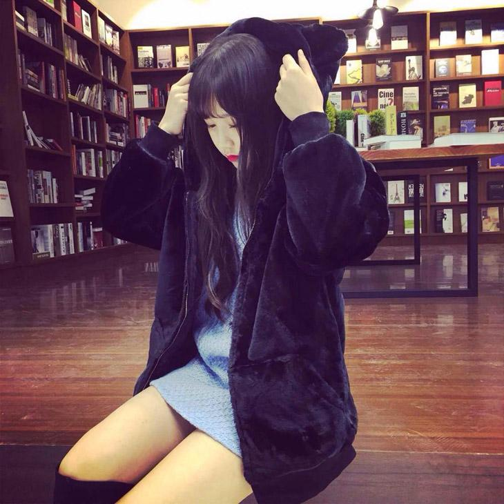 Bear Fluffy Hoodie Jacket SD00893