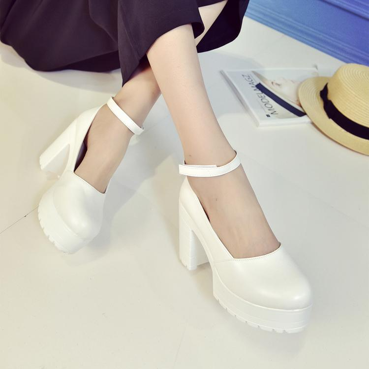Casual Strap High-Heel Platform Shoes
