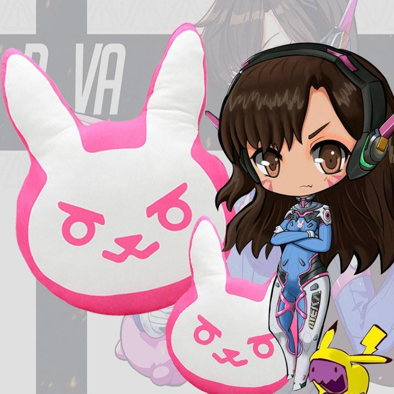 Overwatch D.VA Plush Bunny Pillow SD01451