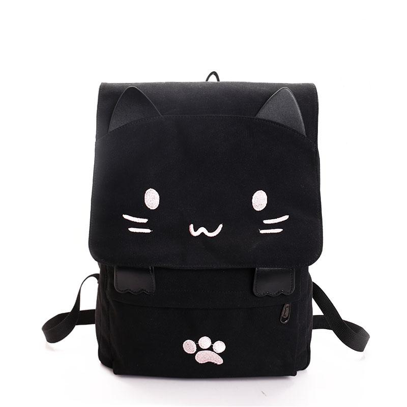 Cat Ears Canvas Backpack SD00730