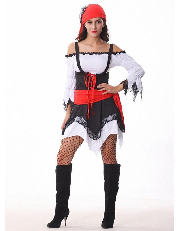 Sexy Women Pirate Halloween Party Stage Costume