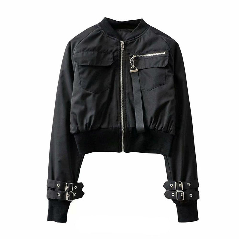 Zipper Strap Short Jacket SD00401