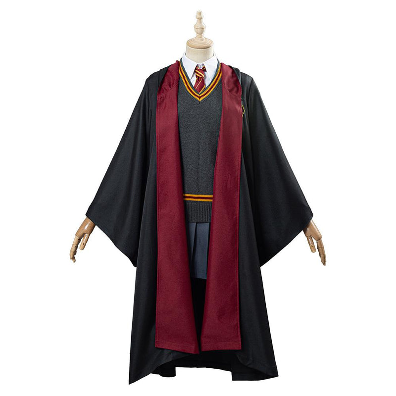 Harry Potter Hermione Granger Gryffindor School Uniform Women Robe Cloak Outfit Halloween Carnival Costume Cosplay Costume