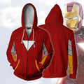 The Avengers Endgame Tony Stark Zip Up Hoodie CSP807
