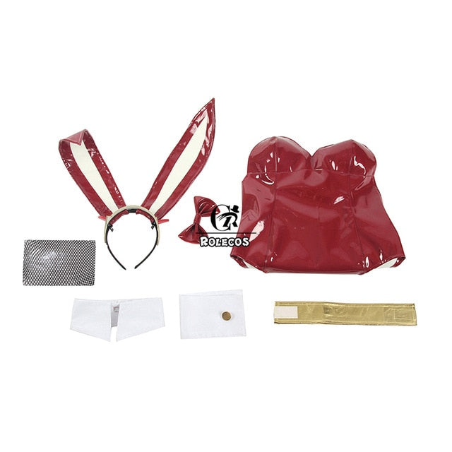 Anime DARLING in the FRANXX Cosplay Costume Zero Two Bunny Girl Cosplay Costume 02 Sexy Women Jumpsuit Red Leather Suit