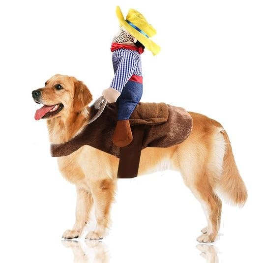 Pet Cat Cowboy Rider Dog Costume Dogs Clothing Cosplay product Knight Style with Hat Funny Cat Costumes Dress Clothes