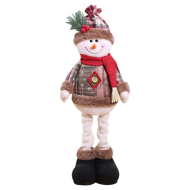 2020 Christmas Decorations Christmas Dolls Christmas Tree Decorations Innovative Elk Santa Snowman Decoration Kids New Year Gift