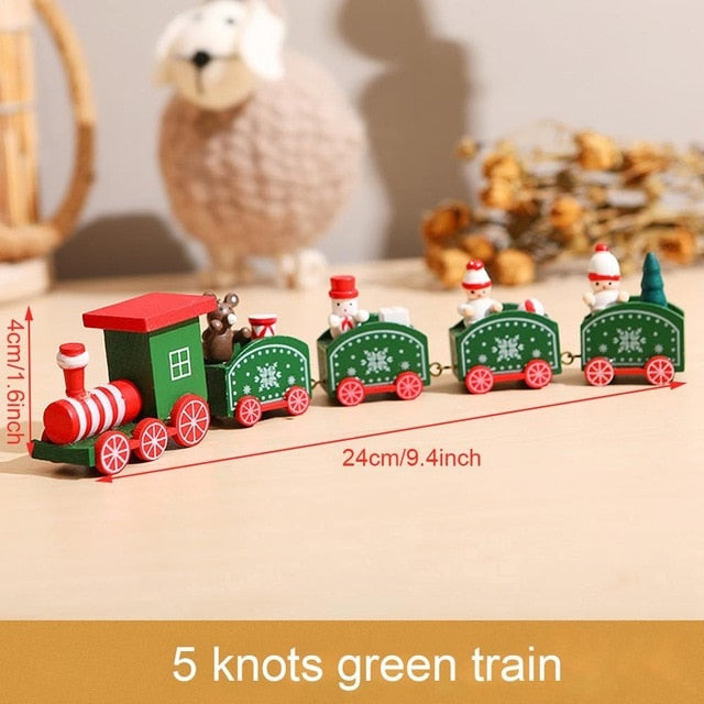 Little Train Wooden Christmas Decorations for Home Xmas Decor Christmas 2020 New Year 2021 Christmas Ornaments Christmas Noel