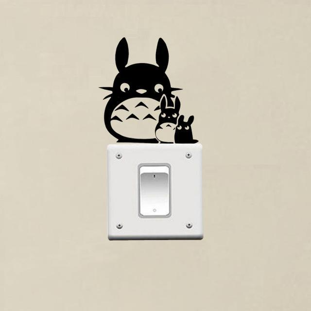 Totoro Mom And Totoro Baby Switch Sticker