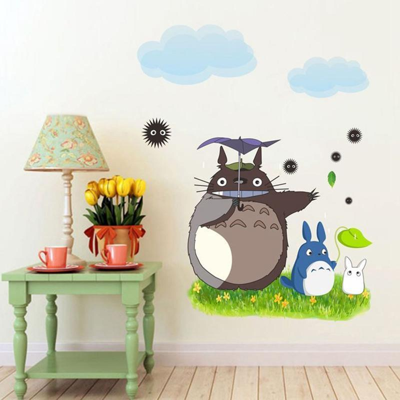 Totoro Wallpaper / Wall Stickers for Kids Room