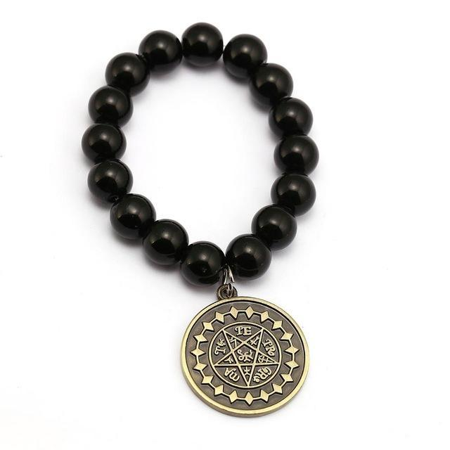 Black Bulter Bracelet - Ciel Demon Eye Star Charm