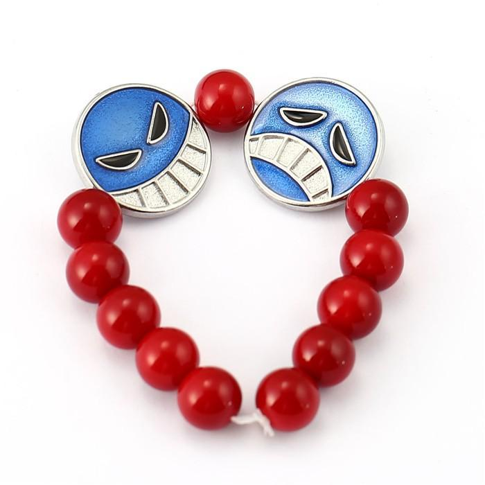 One Piece Bracelet Ace Red Beads