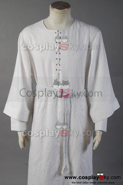 The Lord of the Rings Gandalf Costume White Robe Cape