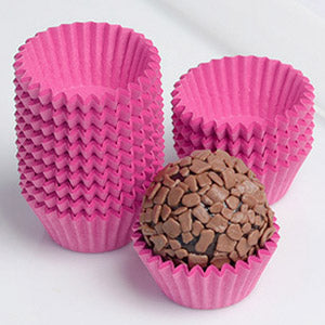 mini paper liners for brigadeiros and other chocolate sweets