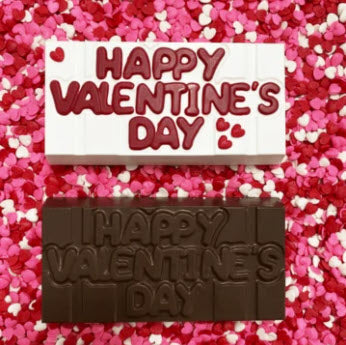 Happy Valentine's Day Chocolate Bar Mould