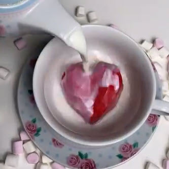Valentine's Day Heart Hot Chocolate Bomb