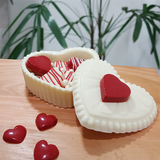 3-Part Chocolate Mould - Heart Box with lid - BWB43