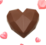 3-Part Chocolate Mould - Geometric Heart 500g - BWB9838