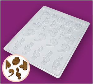 Simple Chocolate Mould Musical Notes BWB1161