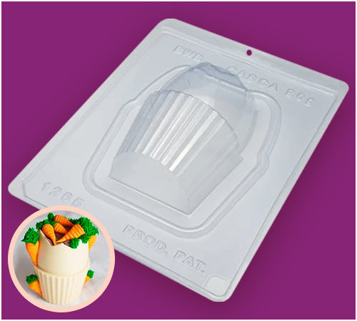 Cupcake Egg Chocolate Mould - 3-Part - BWB 1265