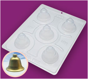 3-Part Chocolate Mould - Single Christmas Bell - BWB129