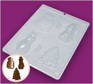 Simple Chocolate Mould Snowman BWB153