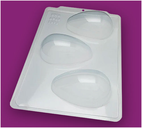 3-Part Chocolate Mould - Smooth Easter Egg 250g - BWB3617