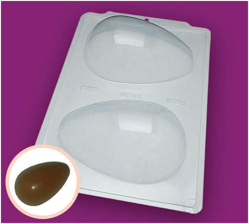 3-Part Chocolate Mould - Smooth Easter Egg 500g - BWB3619