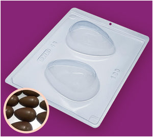 3-Part Chocolate Mould - Smooth Easter Egg 100g - BWB48