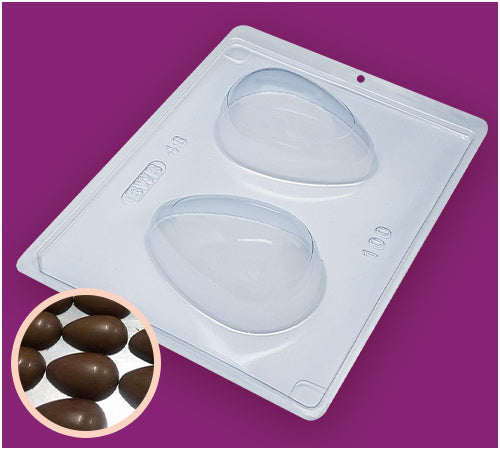 Smooth Easter Egg 100g - 3-Part Mould - BWB 48