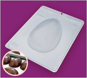 3-Part Chocolate Mould - Smooth Easter Egg 350g - BWB50