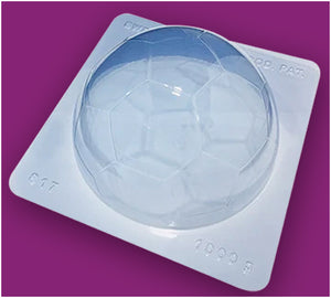 3-Part Chocolate Mould - Big Football Ball - BWB817