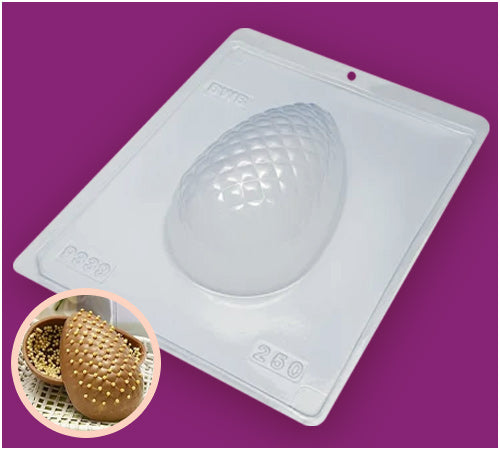3-Part Chocolate Mould - Textured Egg Matalasse 250g - BWB9339