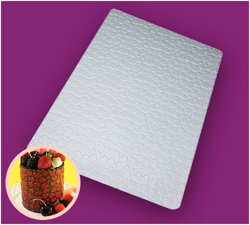 Textured Sheet for Chocolates: Hearts - BWB9376