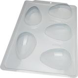 3-Part Chocolate Mould - Smooth Easter Egg 100g - BWB3615