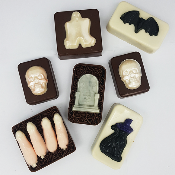 Simple Chocolate Mould - Halloween - BWB 9643