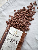 Callebaut Milk Chocolate Callets 33.6%.   PESO 1KG