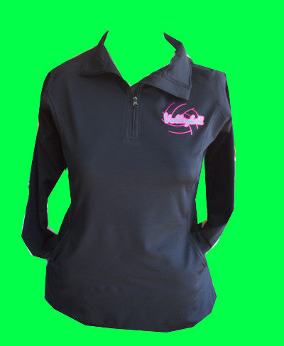 Black Fleece Lined Volleyball 1/4 Zip
