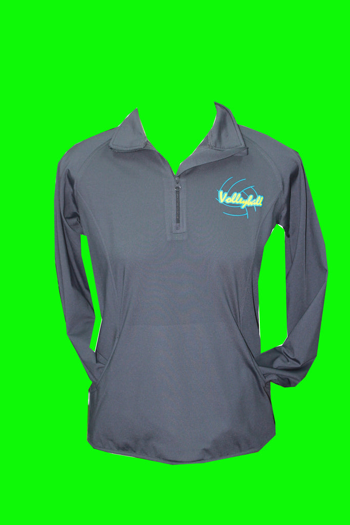 Charcoal Fleece Lined Performance Volleyball 1/4 Zip