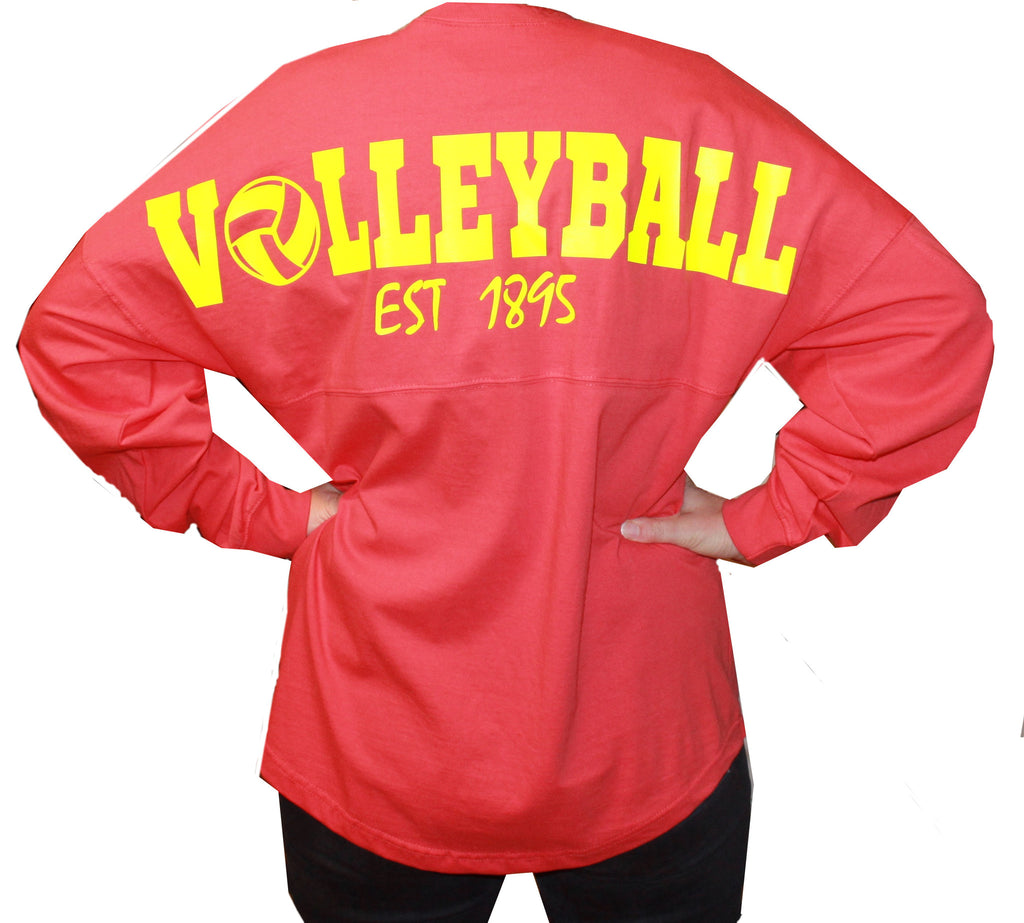 Volleyball Oversized Long Sleeve T-shirt