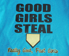 Good Girls Steal softball graphic tee