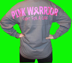 Pink Warrior Oversized Long Sleeve T-shirt