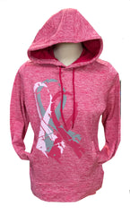 Stay charged in this moisture-wicking, color-preserving fleece in heathered yarn and show your support for Breast Cancer Awareness. A fitted warm fleece hoodie without the bulk. For every purchase of Breast Cancer items Side Out Sports will donate funds to Breast Cancer Awareness.