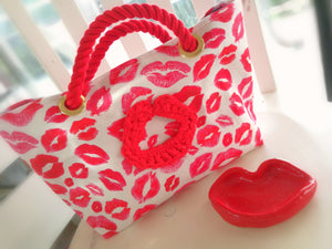 Tote Bag S-size, Lips