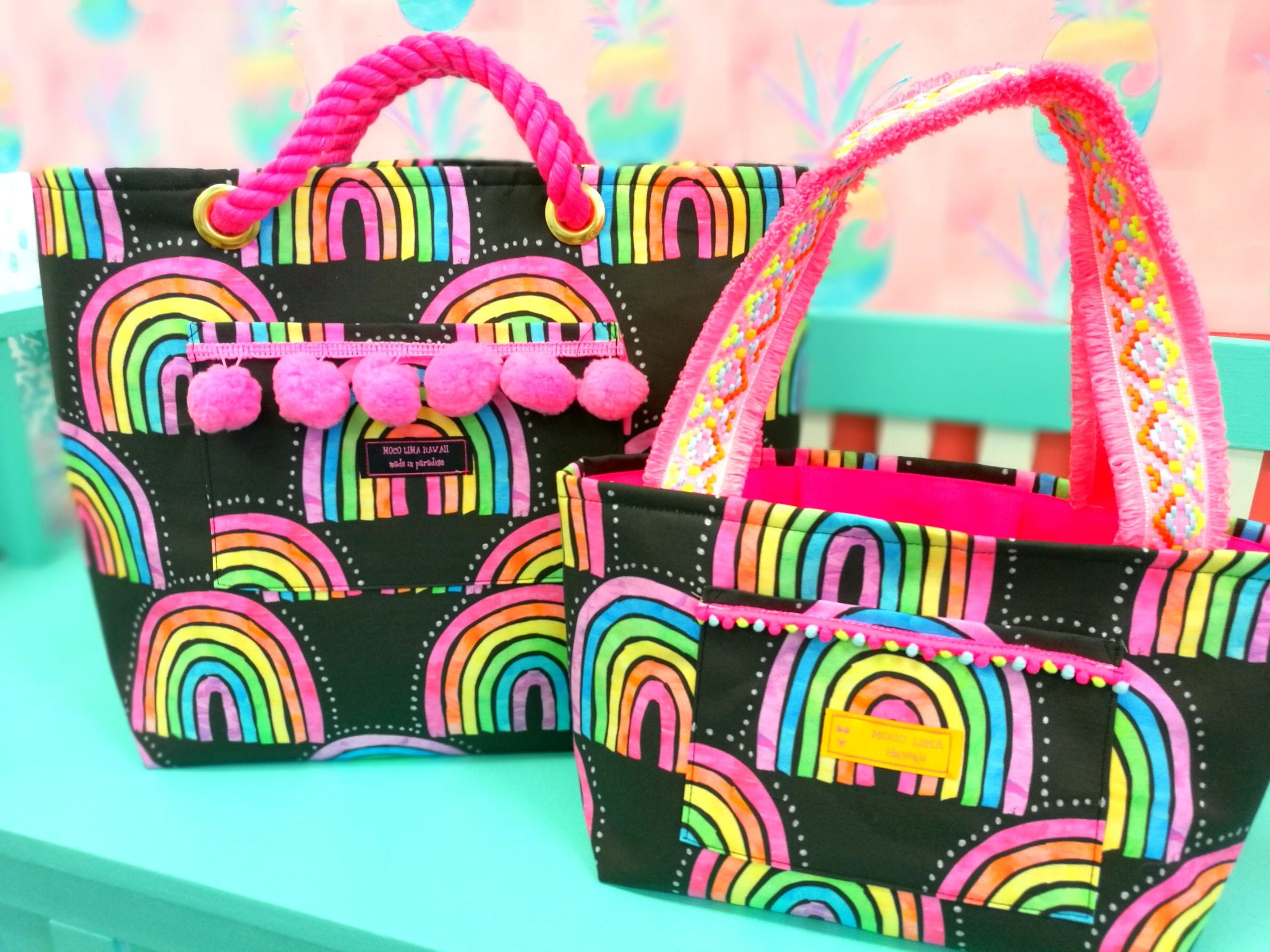 Big Black Rainbow Tote Bag