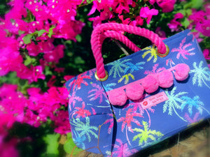 Tote Bag S-size, Vivid Palm Trees