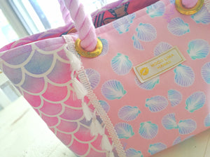Tote Bag S-size, Pink Shell