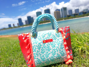 Tote Bag S-Size, Coral Red