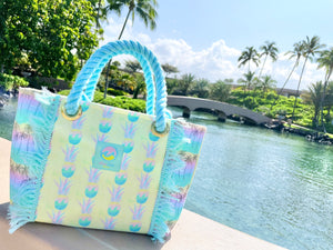 Tote Bag S-size, Yellow Pineapple
